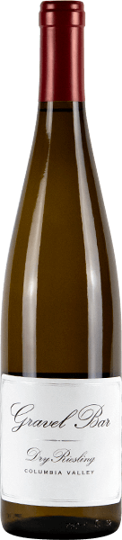 A bottle of the Dry Riesling
